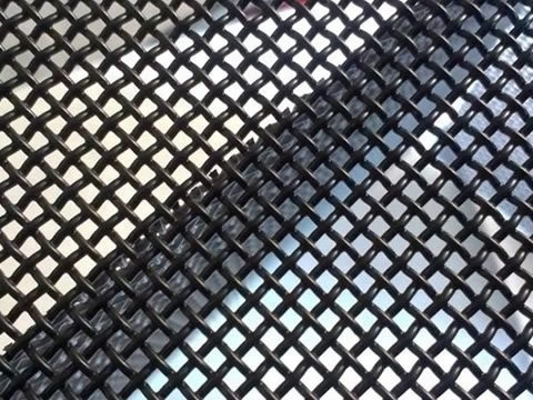 Black Coated Wire Mesh Grid Panels Hanger Grid